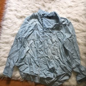 Tops - Blue button up flannel